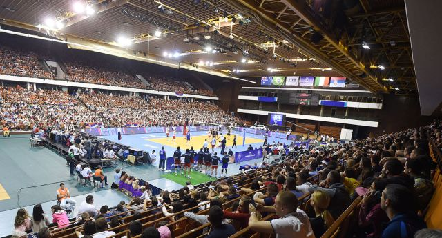 Great atmosphere at SPENS hall in Novi Sad during Serbia vs Italy match