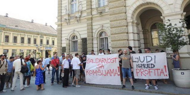 PROTEST STANARA NASELJA DEPRESIJA U NOVOM SADU