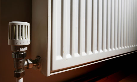 A radiator in a house