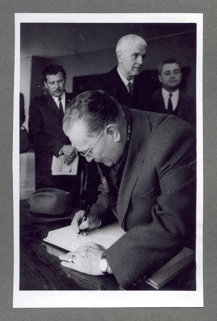 Josip Broz Tito - poseta Spomen zbirci Pavla Beljanskog sa meksičkim predsednikom A.L.Mateosom, 1.4.1963.