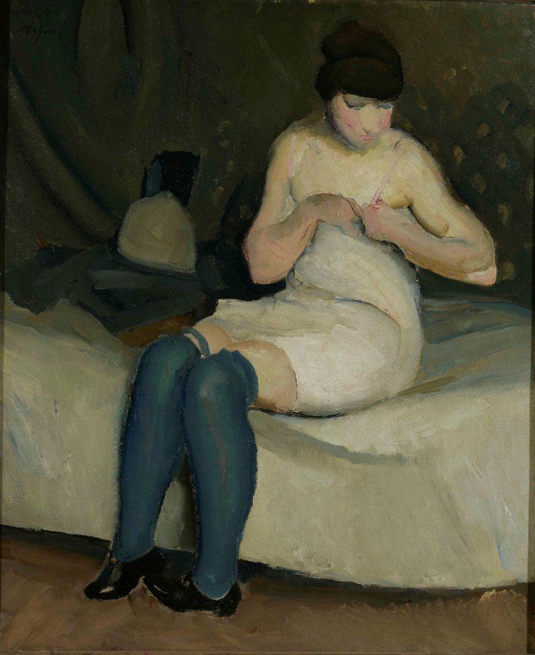"""Miroslav Kraljević, """"Djevojka s modrim čarapama"""" 1912."""