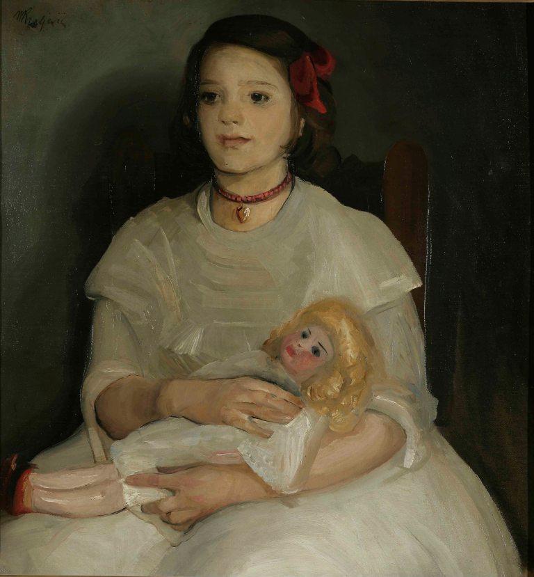 """Miroslav Kraljević, """"Mala s bebom"""" 1911."""