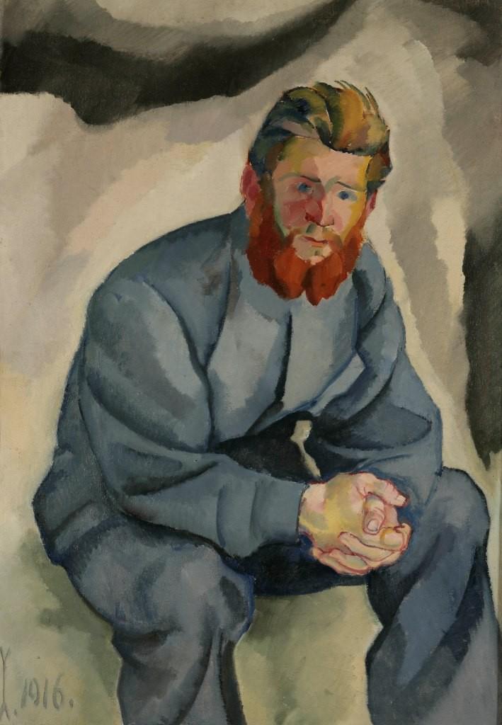 Zlatko Šulentić, Čovjek s crvenom bradom 1916.