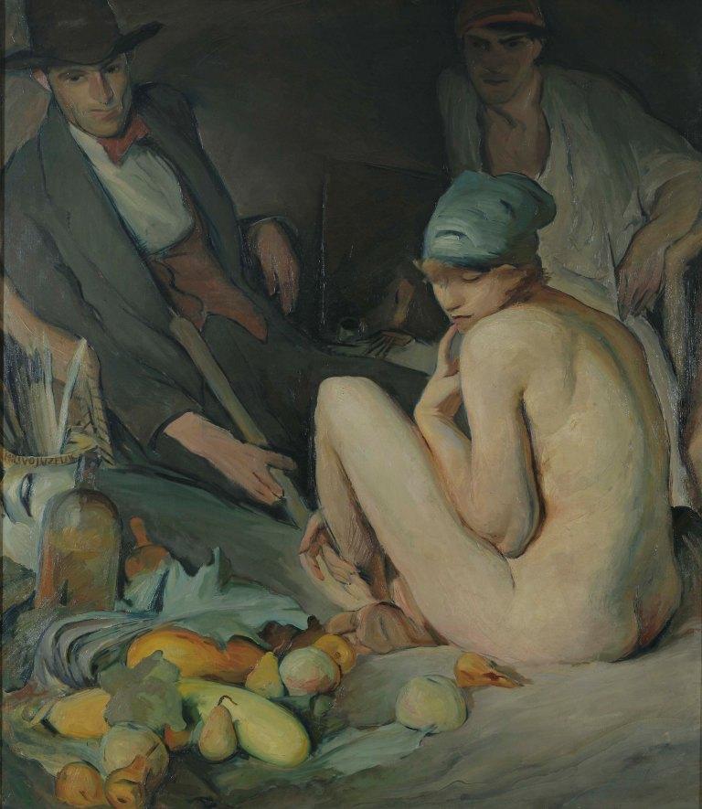 Milivoj Uzelac, U ateljeu boema 1920. godina