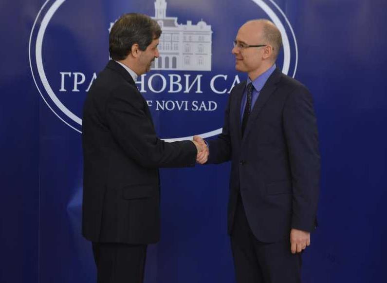 Milos Vucevic i ambasador Irana