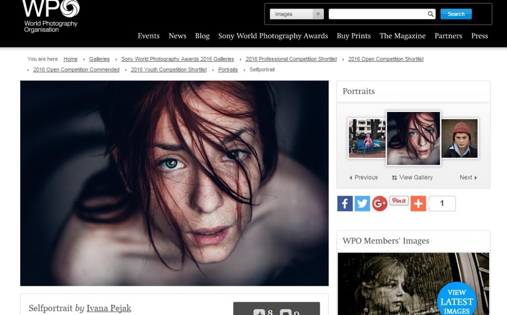 Selfportrait - World Photography Organisation  PrintScreen