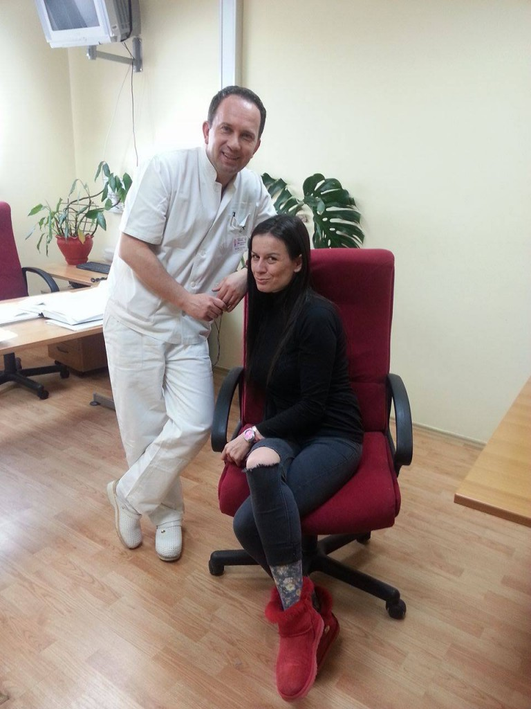Dr Dragan Stajić i autorka teksta Ivana Knežević