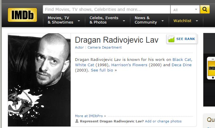 Dragan Radivojevic Lav - IMDb