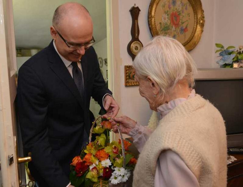 Milos Vucevic i najstarija Novosadjanka (2)