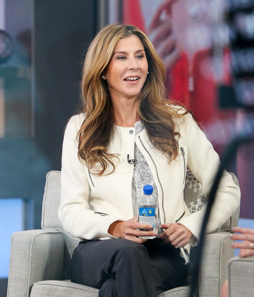 Former Tennis Player Monica Seles seen getting interview at the 'Good Morning America' in New York City