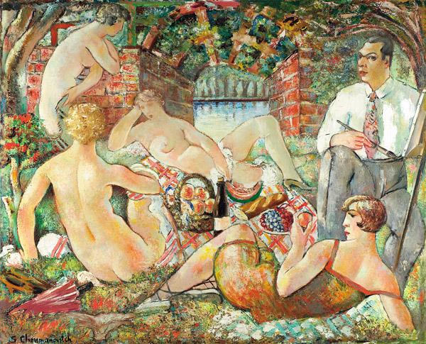 """Sava Šumanović """"Doručak na travi"""" 1927. godina"""
