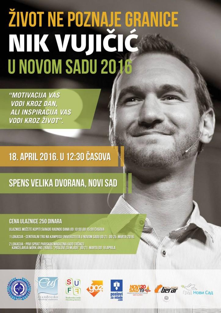 Nik Vujicic - Novi Sad