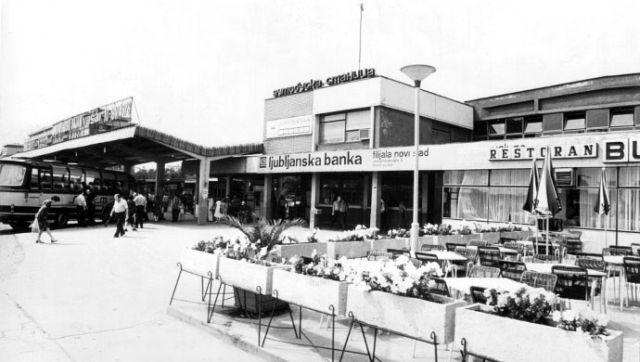 Novoizgrađena Međumesna autobuska stanica 1967. godine