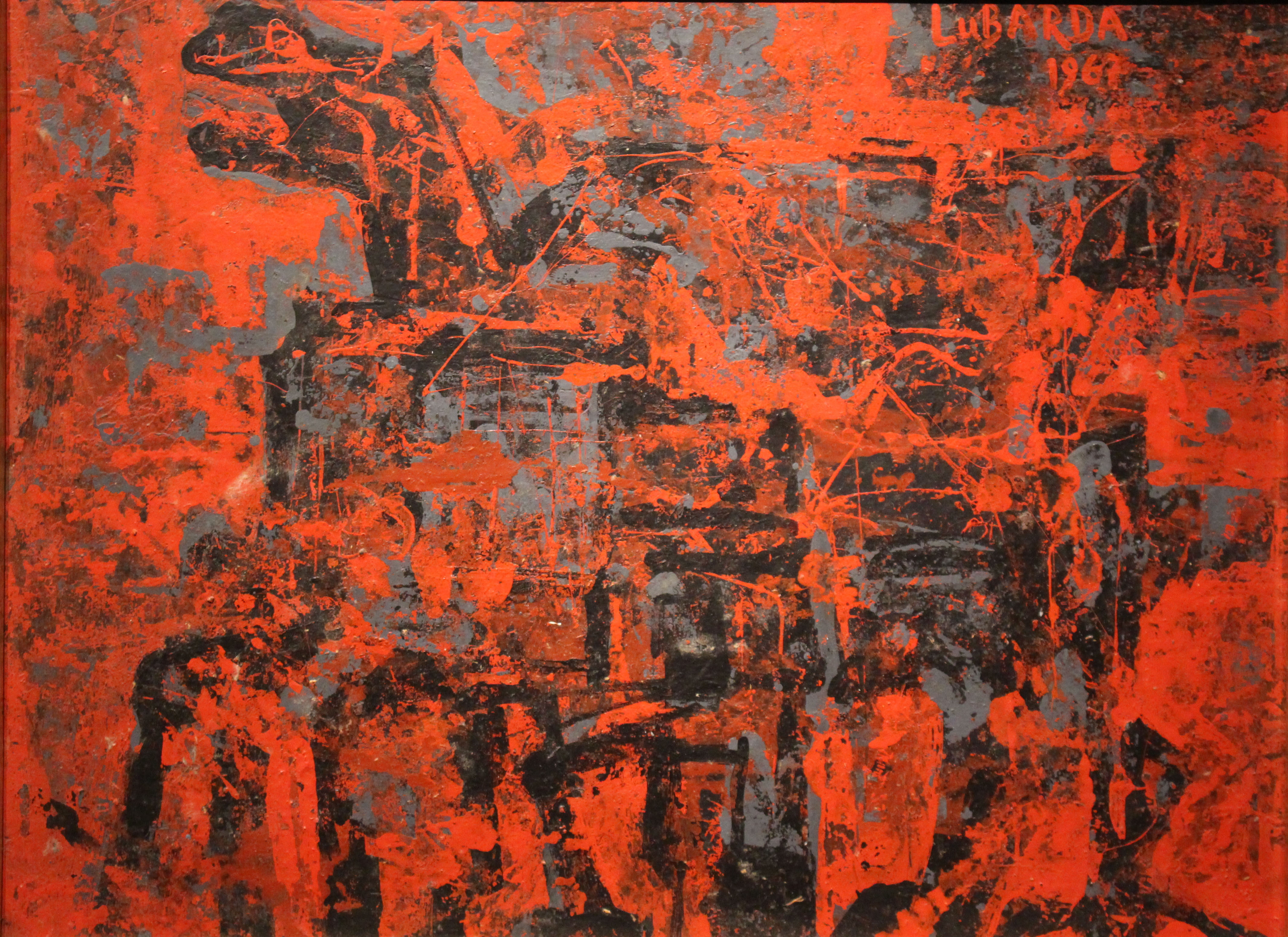 Petar Lubarda, Konjanik, ulje na lesonitu, 34,2x45,5 (1967)