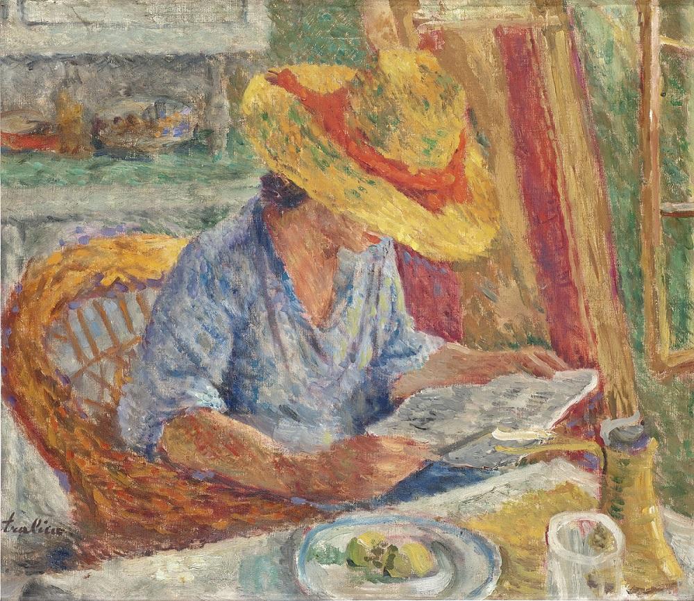 Stojan Aralica, Žena sa slamnim šeširom, 1934. Spomen zbirka Pavle Beljanski