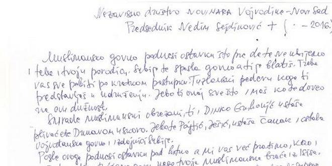pismo pretnje